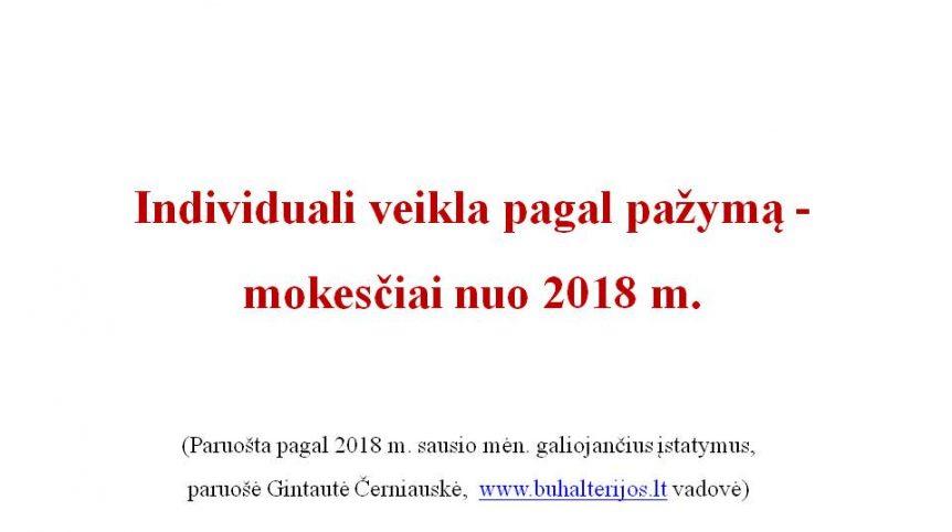 individuali veikla mokesciai 2018