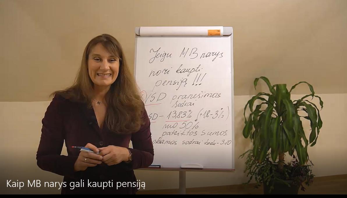 Kaip MB narys gali kaupti pensiją