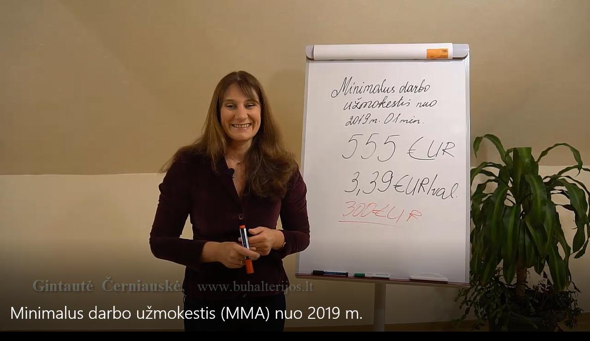 Minimalus darbo užmokestis nuo 2019 (MMA)
