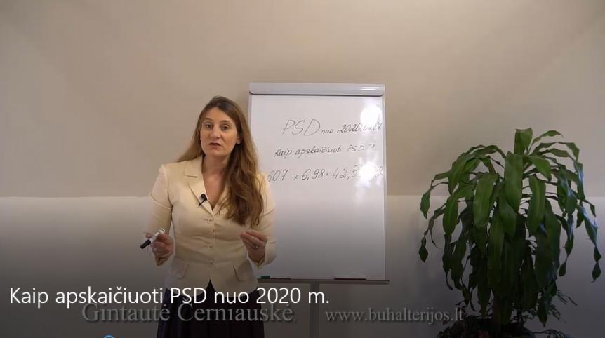 Kaip apskaičiuoti PSD 2020